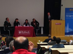Birkbeck assembled a first class panel of senior executives from football
